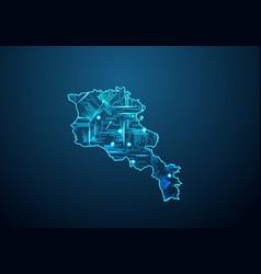 Abstract futuristic map armeniacircuit board vector