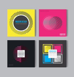 Abstract posers set art graphic backgrounds vector