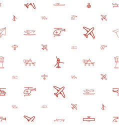 aircraft icons pattern seamless white background vector image