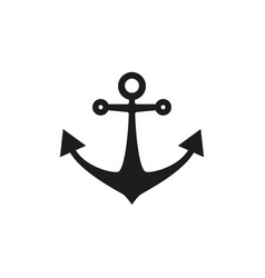 anchor black icon vector image