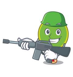 army ping pong racket character cartoon vector image