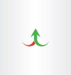 arrow up growth symbol sign vector image