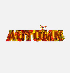 autumn sale design with falling leaves on light vector image