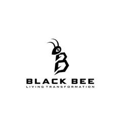 bee silhouette made cartoon vector image