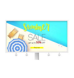 Billboard with summer sales action time limited vector