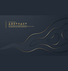 Black abstract paper cut background vector