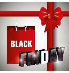 Black friday shopping vector image