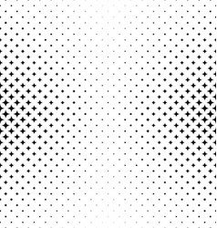 Black white curved star pattern background vector