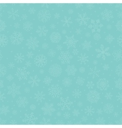Blue Subtle Winter Snow Flakes Doodle Seamless vector image