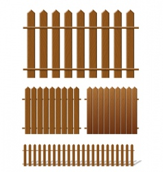 Brown fence vector