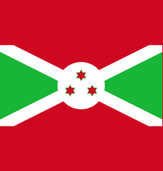 Burundi national flag with official colors vector