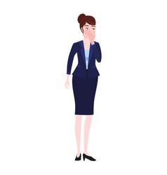 Businesswoman with facepalm gesture headache vector