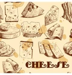 Cheese sketch seamless wallpaper vector