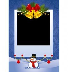 Christmas photo frame vector