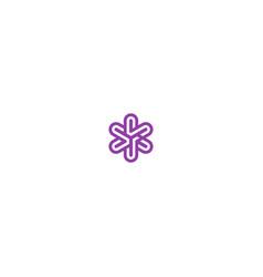 Circle line star decorative logo vector