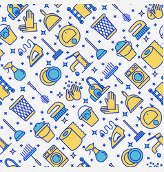 cleaning service seamless pattern vector image