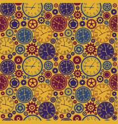 clock s seamless pattern color texture of time vector image