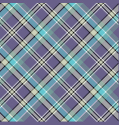 cold colors diagonal plaid pixeled seamless vector image vector image