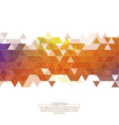 Creative abstract triangle pattern vector