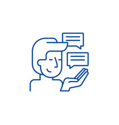 customer research line icon concept customer vector image