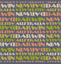 darwin australia seamless pattern vector image