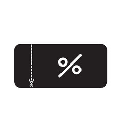 discount ticket icon on white background flat vector image