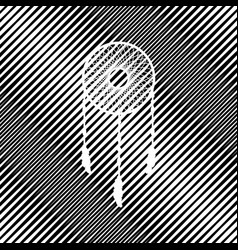 Dream catcher sign icon hole in moire vector