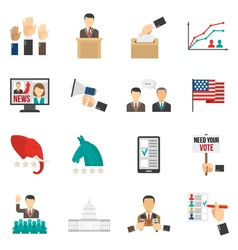 Election Color Icons vector