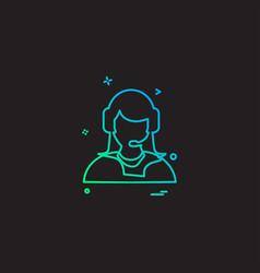 employee icon design vector image