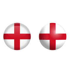 england flag under 3d dome button and on glossy vector image