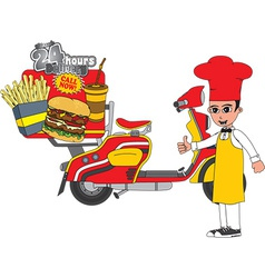 Fast food chef vector