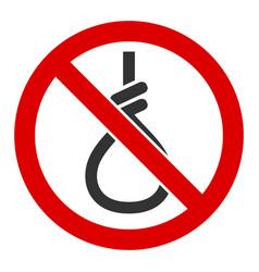 Flat no suicide loop icon vector