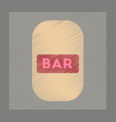flat shading style icon bar sign vector image