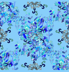 gentle cute floral background flowers on blue vector image