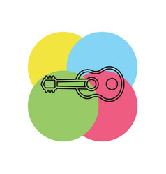 guitar icon - acoustic music instrument vector image