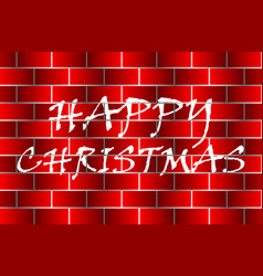Happy christmas - white and red vector