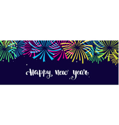 happy new year background texture with fireworks vector image