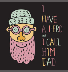 Hero dad three vector
