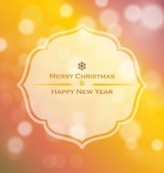 Holidays Christmas vector image