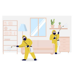 Home insect control services flat vector
