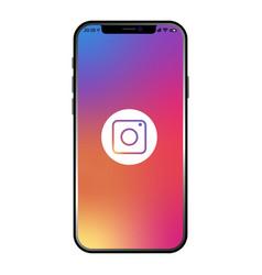 Instagram on new iphone 12 screen vector