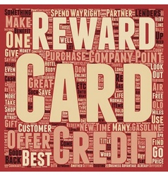 Is Your Rewards Credit Card The Right One text vector image
