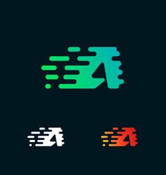 Letter a modern speed shapes logo design vector