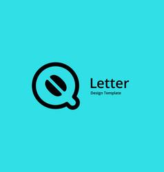 Letter q cofee logo icon design template elements vector