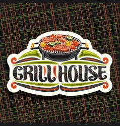 logo for grill house vector image