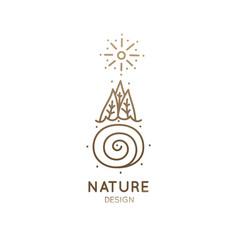 Logo minimal landscape vector