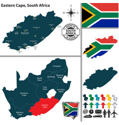 Map of eastern cape south africa vector