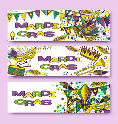 mardi gras or shrove tuesday cards vector image