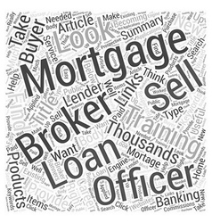 Mortgage Brokers and Loan Officers Word Cloud vector