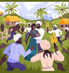 mowgli coloring people composition vector image